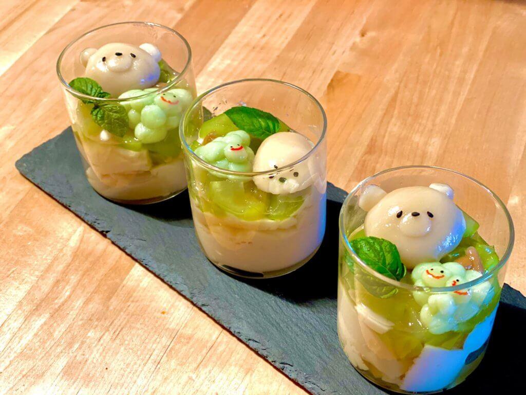 台湾で人気のヘルシースイーツ豆花を自家製シャインマスカットのはちみつで